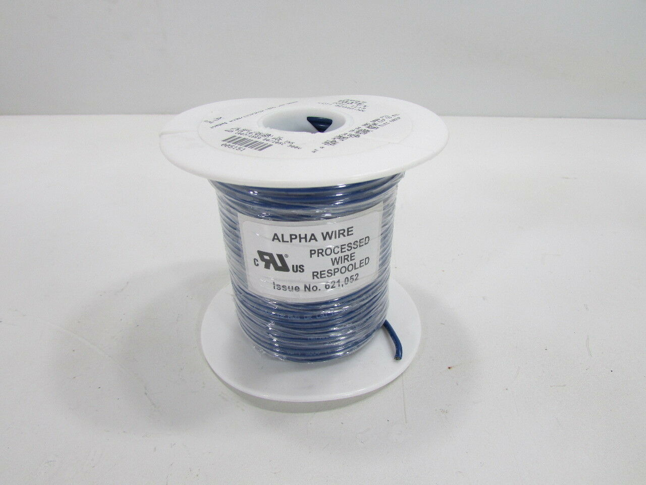 NEW ALPHA WIRE  3057 BL005  HOOK-UP WIRE, 100FT, 16AWG, CU, blueE RESPOOLED