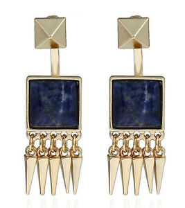 Image Is Loading Marni H Amp M Square Gemstone Tel Earrings