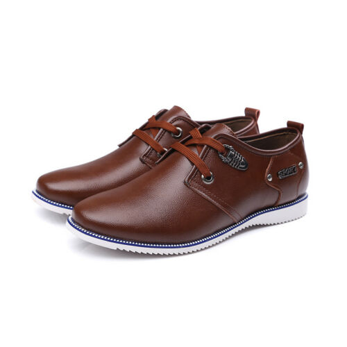 Brand Men's Casual Shoes Man Quality Leather Lace Up Zapatos Hombre