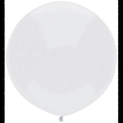 """5 Bright White BSA 17"""" inch Outdoor Display Balloons Round Rubber Latex in Big"""