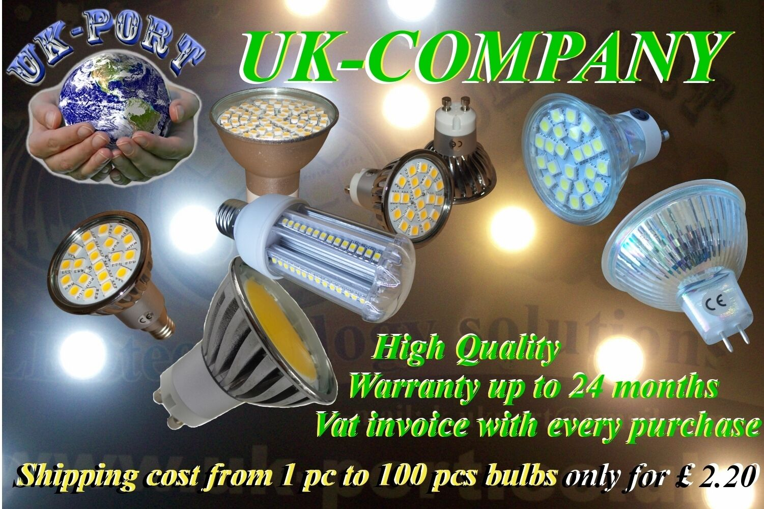 15 x GU10 20,24,60 SMD LED  DAY & WARM  Weiß Dimmable or not WARRANTY 24 Months