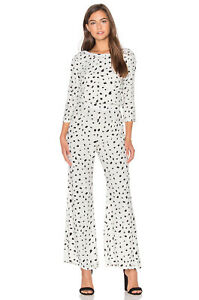 Clothing, Shoes & Accessories Active Wildfox Solid Confetti Jumpsuit Black&white Size Xs,m,l Open Back Dalmatian New Without Return