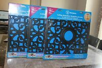 3 Packs Westinghouse Ceiling Medallions Square Parisian Scroll 18x18 (black)