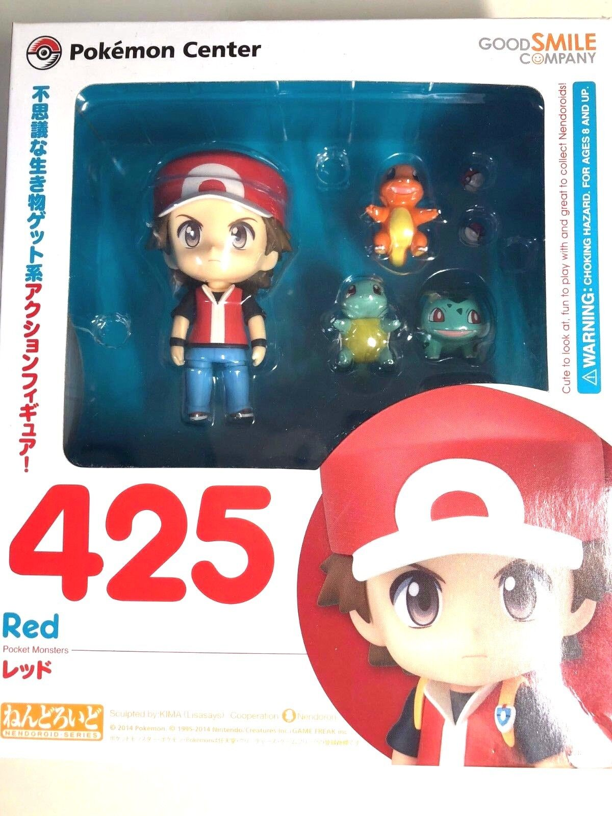 Free Shipping from Japan Authentic Nendgoldid Pokemon Red Good Smile Company