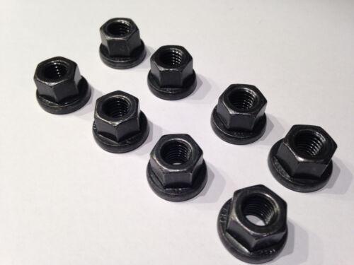 M10 10 Stück,DIN 6331 M10 Sechskantmutter mit Bund Stahl schwarz 10.9 hoch