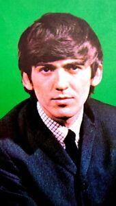 Beatles-1964-Vintage-Postcard-George-Harrison-Fab-Four-Original-EX-COA