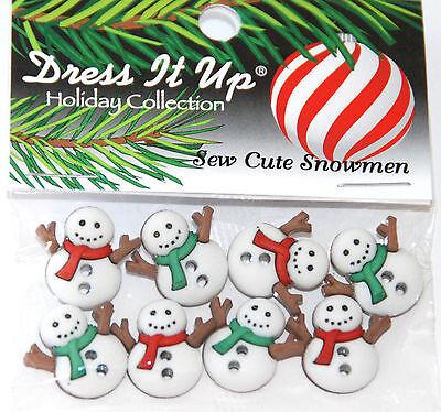 Sew Thru Holiday Buttons ~ Jesse James Dress It Up  # 7494 Sew Cute Snowmen