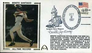 Benito Santiago Jsa Cert Sticker Fdc First Day Cover Authentic Autograph