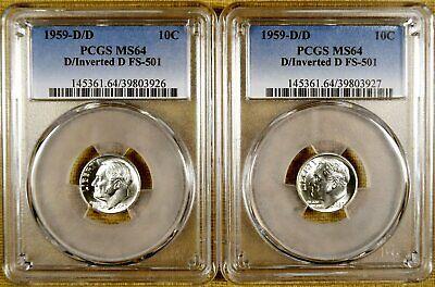 1960-D//D Roosevelt Silver Dime RPM FS-501 MS64 PCGS