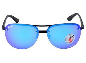 6c723c8f3 Ray-Ban RB4293CH 601/A1 Black Frame/Polarized Blue Mirror Chromance ...
