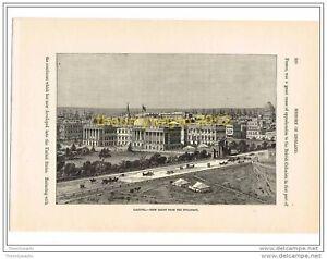 CALCUTTA-INDIA-VIEW-FROM-THE-ESPLANADE-Book-Illustration-c1870