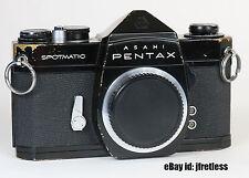 Used Black Asahi Pentax Spotmatic SP SLR Film Camera Body M42 mount Japan