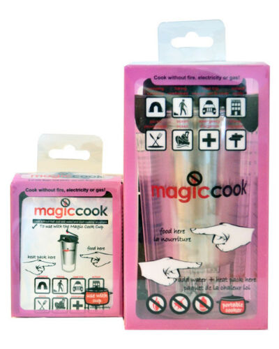 Magiccook no flame Bottle Cup and 5pk refill combo kit magic cook