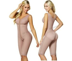 Faja Reductora Colombiana Post Surgery Full Body Shaper with Bra and Slevees