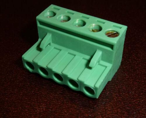 5P5 5 Vie 5mm FEMMINA SPINA blocco morsetto dinkle 5esdv-05p Mates a camdenboss