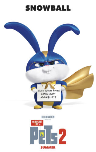 Y-247 The Secret Life of Pets 2 Movie 2019 Hot Fabric Poster 12x18 24x36