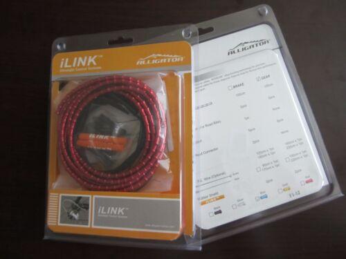 5mm SHIFT GEAR New Alligator I-Link cable set kit Red color vs Nokon