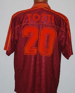MAGLIA-TOTTI-ASICS-1995-1996-INA-MINT-XL-20-BARILLA-no-MATCH-WORN-SHIRT-CAMISETA