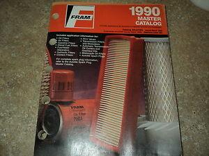 fram filter master catalog 1990 oil air gas hyd filters pvc trans modulators ebay