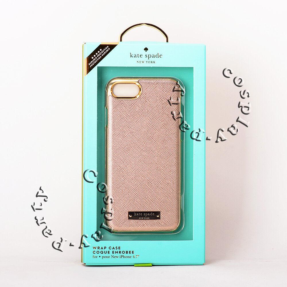 Kate Spade New York Wrap Case Iphone 7 Iphone 8 Rose Gold Gold Logo