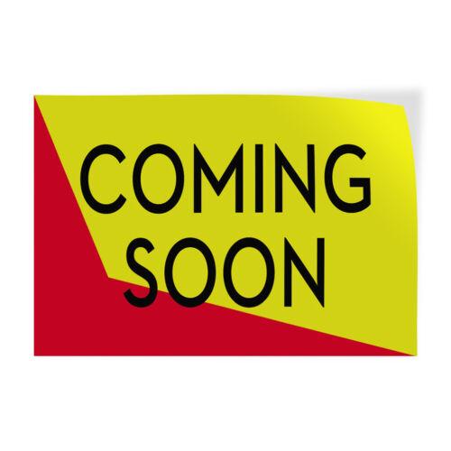 Coming Soon #1 Indoor Store Sign Vinyl Decal Sticker