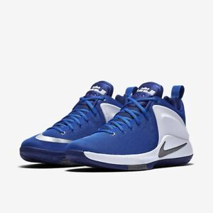 promo code 66526 cbfd0 Image is loading Nike-Zoom-Witness-Lebron-basketball-shoes-white-blue-