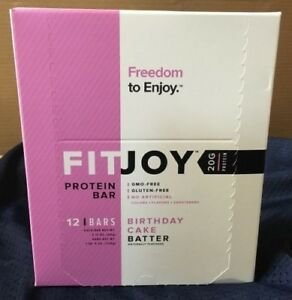 Image Is Loading Birthday Cake Batter Fitjoy Protein Bars 12 Count