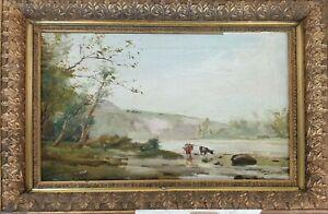 Landscape-with-cows-oil-on-canvas-jose-maria-brands-xix-xx-century