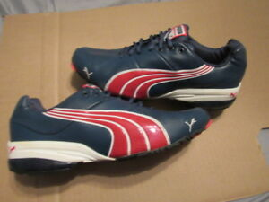 e343960f85a2 puma mens running shoes SIZE 9.5 hiro cell tls red white blue NICE ...