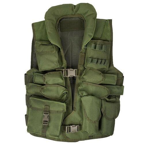 Tactical Vest with Leather Trim Tactical Vest Combat Vest paintballweste Olive