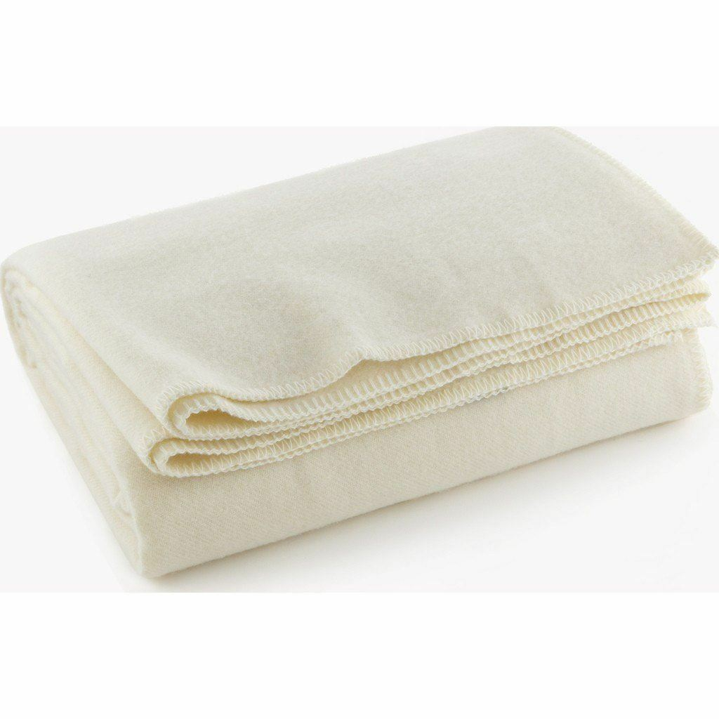Faribault Pure & Simple Wool Blanket   Bone White