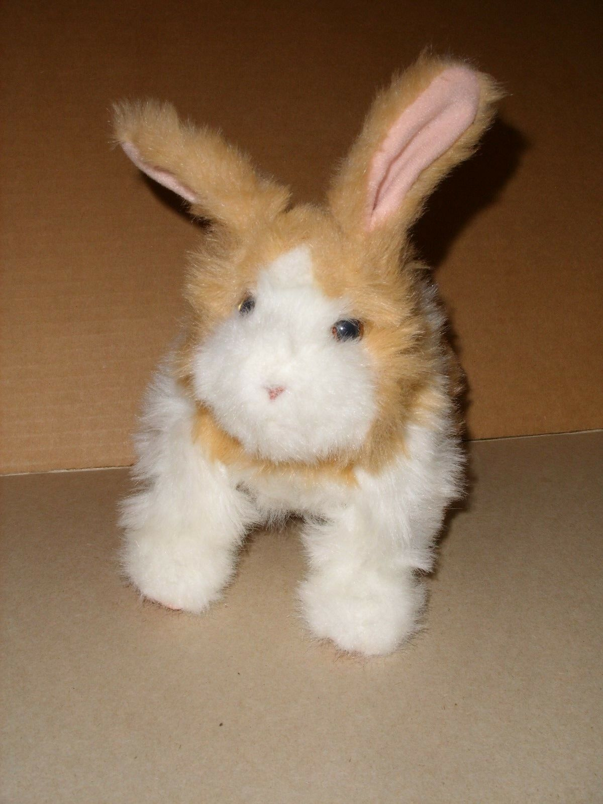 Furreal Friends Hasbro Hop N Cuddle Brown Bunny Rabbit Hopping Cute Sounds 8''