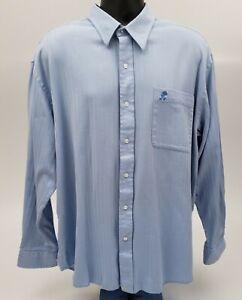Walt Disney World Men's Dress Shirt Size XL Disneyland Resort Mickey Pocket Blue