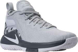 83fcd937d435 NIB MEN S NIKE 942518 002 LEBRON WITNESS II BASKETBALL PLATINUM GREY ...