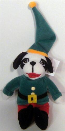 """NWT~BIG DOGS Bean Bag Plush Santa/'s Elf Dog Puppy~Christmas Beanie Doll~8/""""+Cap"""
