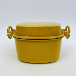 Vintage-Mid-Century-Dansk-Yellow-Enamel-Cast-Iron-Dutch-Oven-Orcast-Quistgaard