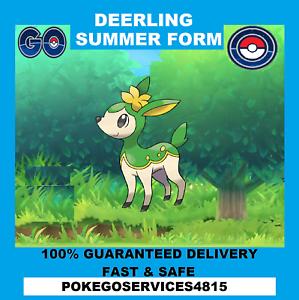 New! Pokemon Go x1 Summer Deerling Capture 100/% Guaranteed /& Safe
