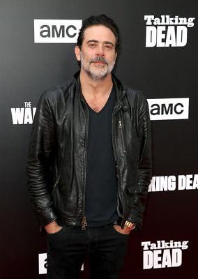 THE Walking Dead negan Jeffrey Dean Morgan Giacca in Pelle Nera