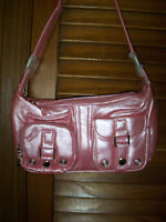 Jc Fashion Nwt's Shimmer Pink Leather Lik Smaller Hand Bag With Extra Pockets