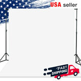 5 x 10 ft. White Screen Fabric Backdrop Photo Photography Background for Studio