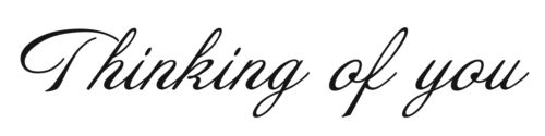 Thinking of you Rubber Stamp SA-7212