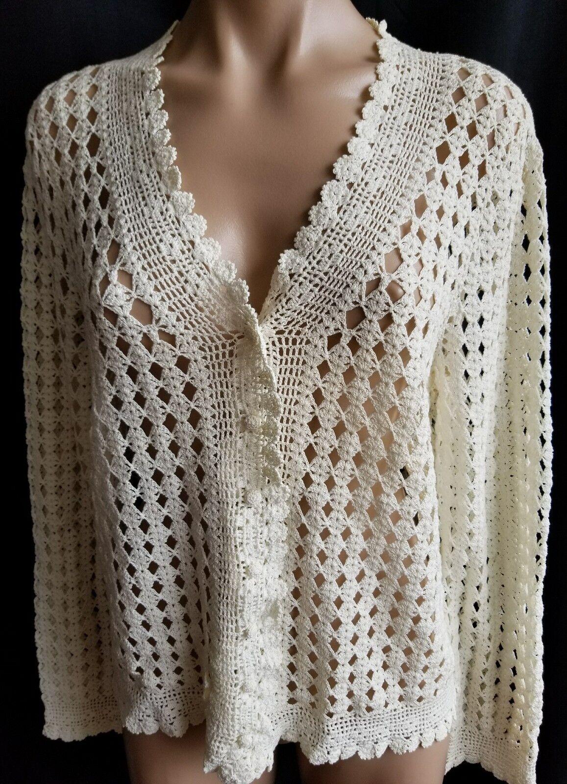 Ralph Lauren Knitted Cardigan Exclusive Hand Knit Knit Knit For Ralph Lauren Size M 885464