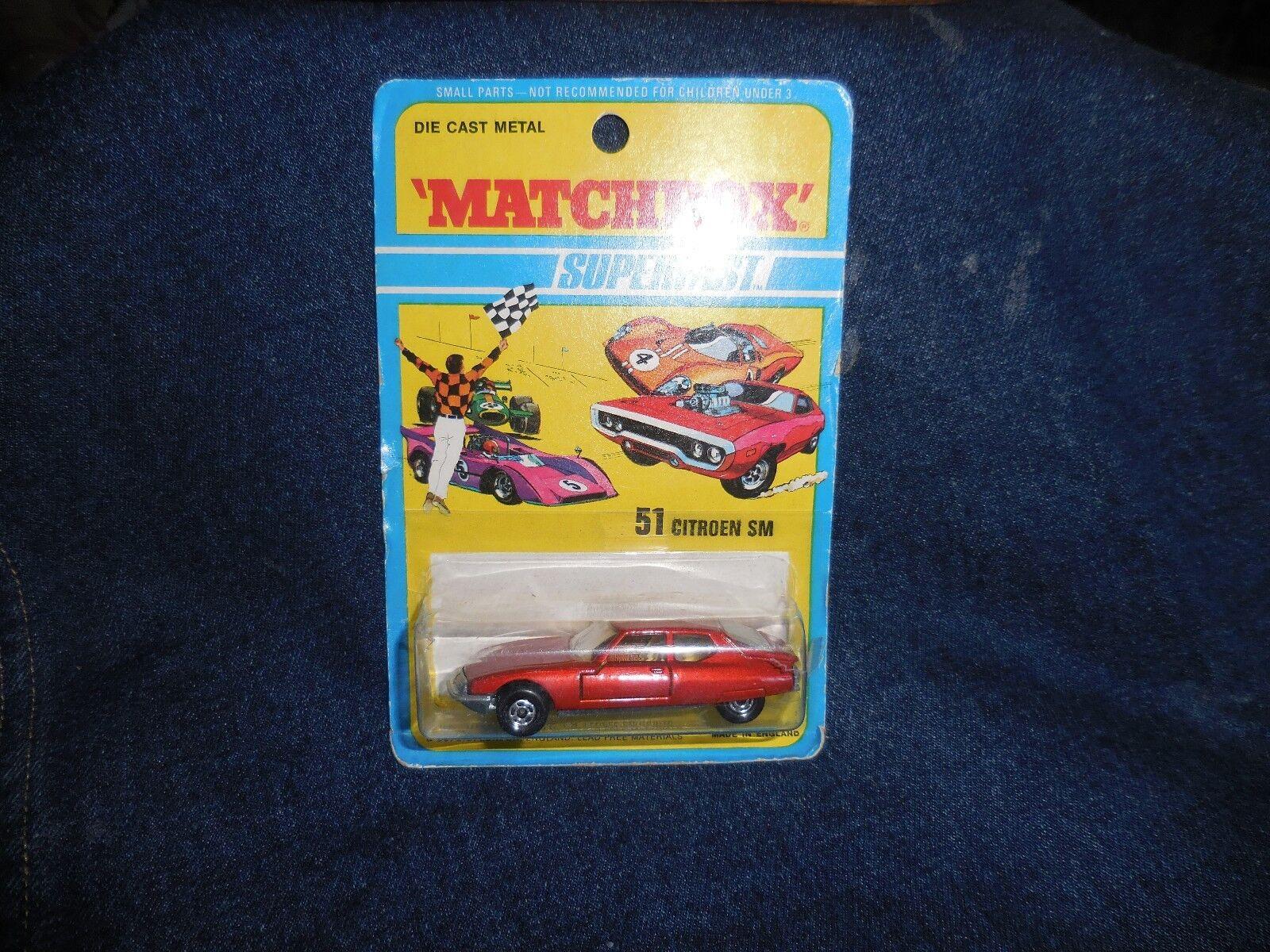 Vintage Matchbox Superfast Citroen SM 1971 MOC