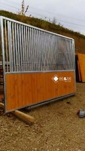 Pferdebox-Pferdeboxen-BOX-Boxen-Pferde-3-Stueck-Trennwand-3-5m-Stall-Pferde