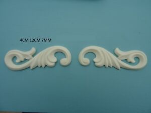 Image Is Loading Decorative Acanthus Scrolls Resin Furniture Mouldings  Appliques Onlays