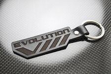 Mitsubishi EVO 8 Leather Keyring Schlüsselring Porte-clés Evolution VIII Lancer