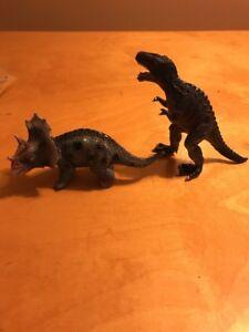 2006 Toy Major Trading Dinosaur T-rex & Tricerators T10 N Action Figures Animals & Dinosaurs