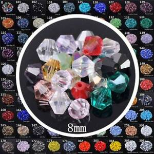 50pcs-8mm-Bicone-Faceted-Crystal-Glass-Loose-Beads-Lot-for-DIY-Jewelry-Making