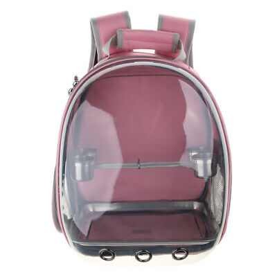 Transparent Breathable Travel Cage Bird Parrot Carrier Include Perch and Bottom Tray Akinerri Birds Travel Carrier Small Bird Travel Bag