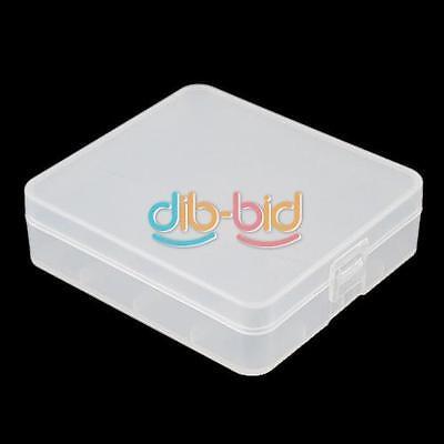 1PCS 4 x 18650 Plastic Transparent White Battery Case Holder Storage Box EBAU